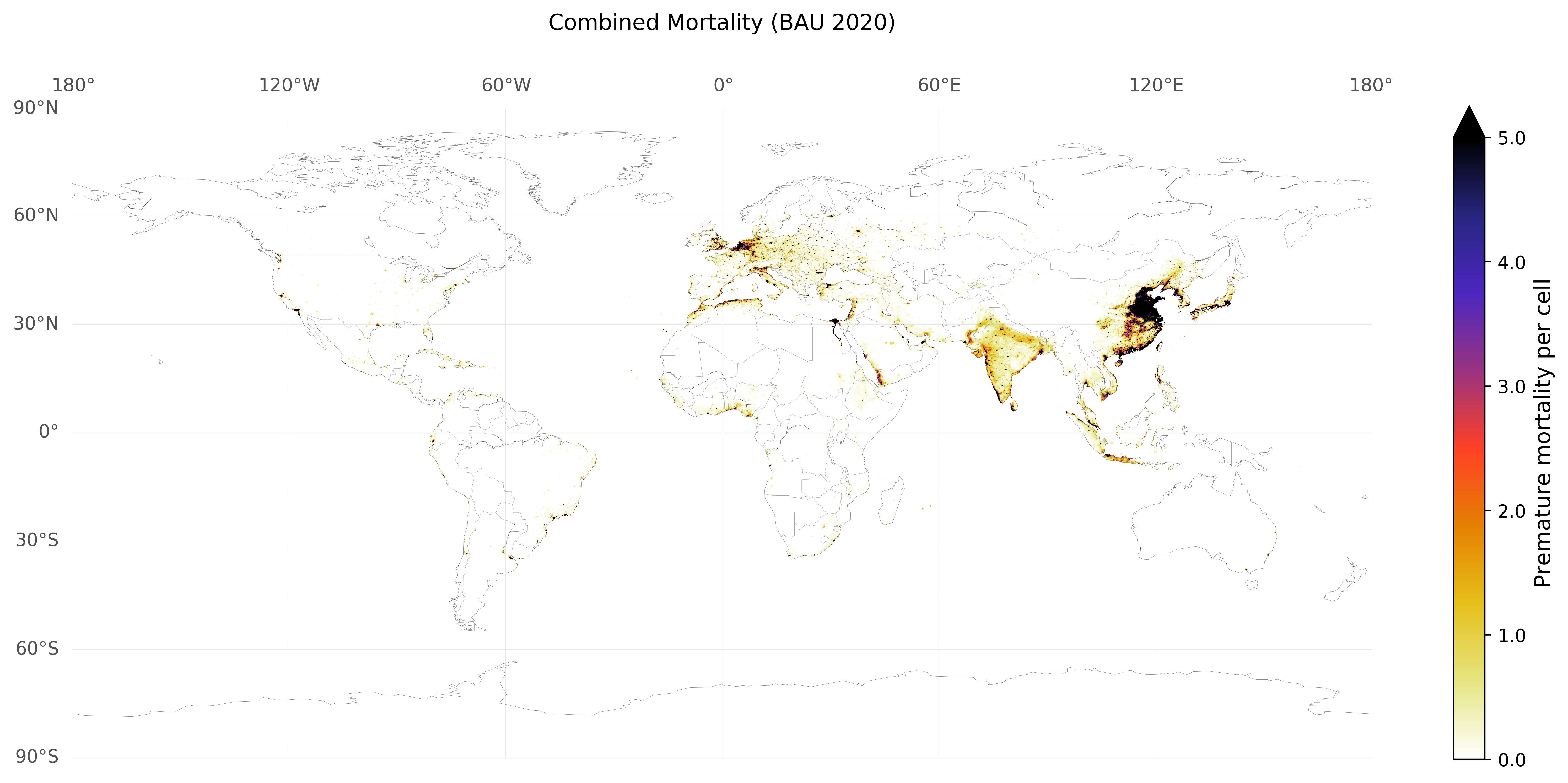 global lung cancer and cardiovascular mortality